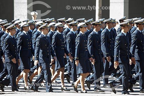 Assunto: Oficiais da Marinha do Brasil durante o desfile em comemoração ao Sete de Setembro na Avenida Presidente Vargas / Local: Centro - Rio de Janeiro (RJ) - Brasil / Data: 09/2013
