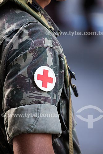 Assunto: Detalhe da farda de oficial médico do exército durante o desfile em comemoração ao Sete de Setembro na Avenida Presidente Vargas / Local: Centro - Rio de Janeiro (RJ) - Brasil / Data: 09/2013