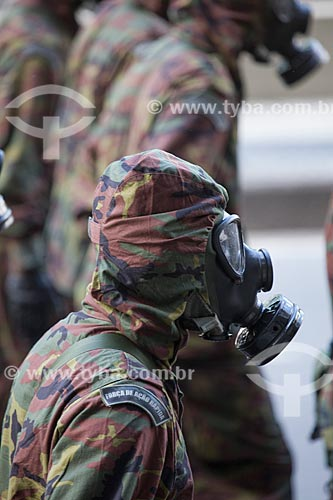 Assunto: Soldados da Força de Ação Rápida Estratégica durante o desfile em comemoração ao Sete de Setembro na Avenida Presidente Vargas / Local: Centro - Rio de Janeiro (RJ) - Brasil / Data: 09/2013