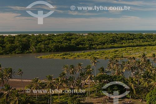 Assunto: Rio Preguiças no Povoado de Mandancaru próximo ao Parque Nacional dos Lençóis Maranhenses / Local: Barreirinhas - Maranhão (MA) - Brasil / Data: 07/2010