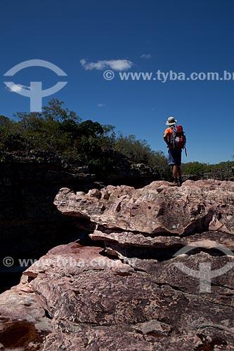 Assunto: Homem às margens do Rio Espalhado / Local: Ibicoara - Bahia (BA) - Brasil / Data: 09/2012