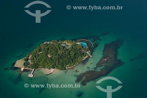 Assunto: Foto aérea da Ilha do Cavaco na Baía de Jacuecanga / Local: Angra dos Reis - Rio de Janeiro (RJ) - Brasil / Data: 04/2011