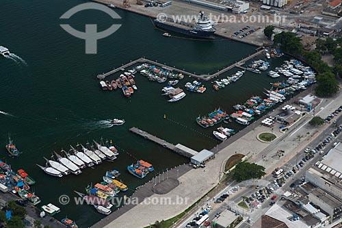 Assunto: Foto aérea do Cais de Santa Luzia / Local: Angra dos Reis - Rio de Janeiro (RJ) - Brasil / Data: 03/2012
