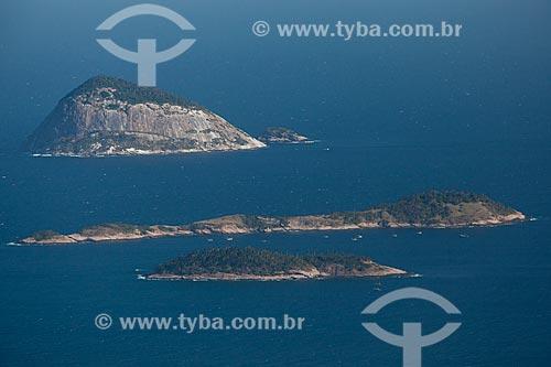 Assunto: Ilha Palmas, Ilha Comprida e Ilha Redonda no Arquipélago das Cagarras / Local: Rio de Janeiro (RJ) - Brasil / Data: 09/2013