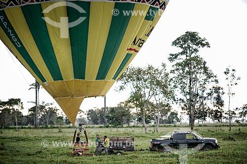 Assunto: Viagem de balão com Cassiano Marques - EME Amazônia / Local: Acre (AC) - Brasil / Data: 05/2013