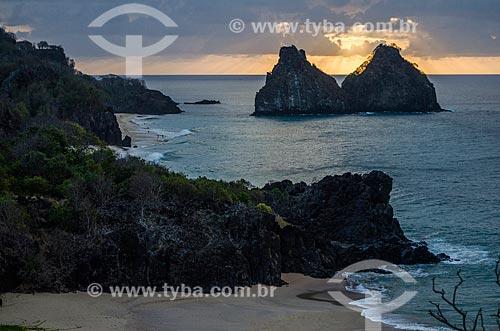 Assunto: Praia do Boldró com Morro Dois Irmãos ao fundo / Local: Arquipélago de Fernando de Noronha - Pernambuco (PE) - Brasil / Data: 10/2013