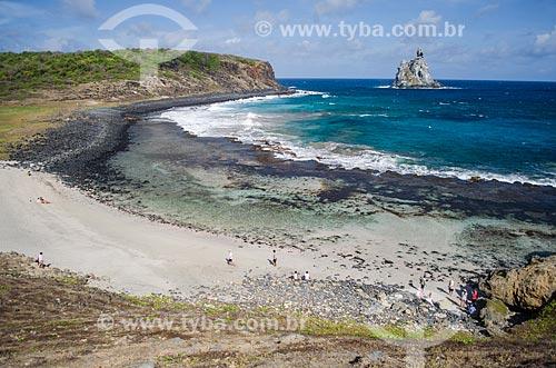 Assunto: Praia da Atalaia e Ilha do Frade ao fundo / Local: Arquipélago de Fernando de Noronha - Pernambuco (PE) - Brasil / Data: 10/2013