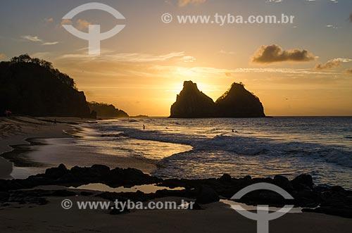 Assunto: Pôr do sol em Fernando de Noronha / Local: Arquipélago de Fernando de Noronha - Pernambuco (PE) - Brasil / Data: 10/2013
