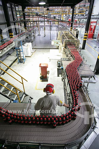 Assunto: Linha de produção na fábrica da Coca-Cola / Local: Jacarepaguá - Rio de Janeiro (RJ) - Brasil / Data: 03/2011