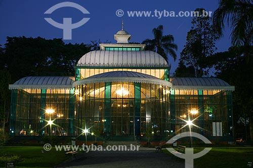 Assunto: Palácio de Cristal (1884) à noite / Local: Petrópolis - Rio de Janeiro (RJ) - Brasil / Data: 09/2011