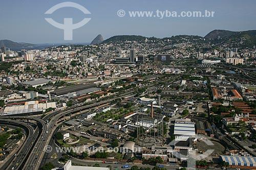 Foto aérea do Elevado da Perimetral próximo ao Terminal Rodoviário do Rio de Janeiro (1965)  - Rio de Janeiro - Rio de Janeiro - Brasil