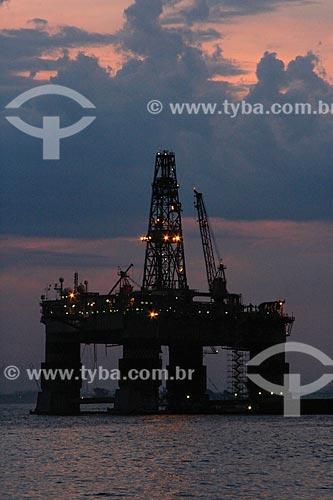 Assunto: Plataforma de petróleo na Baía de Guanabara / Local: Rio de Janeiro (RJ) - Brasil / Data: 11/2013