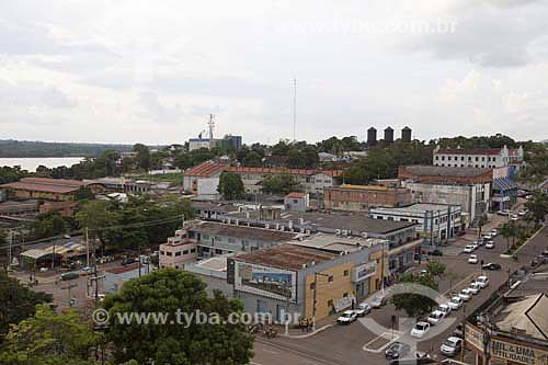 Assunto: Vista geral do centro de Porto Velho - com Avenida Presidente Dutra, Caixas dágua da cidade de Porto Velho e Universidade Federal de Rondônia / Local: Porto Velho - Rondônia (RO) - Brasil / Data: 10/2013