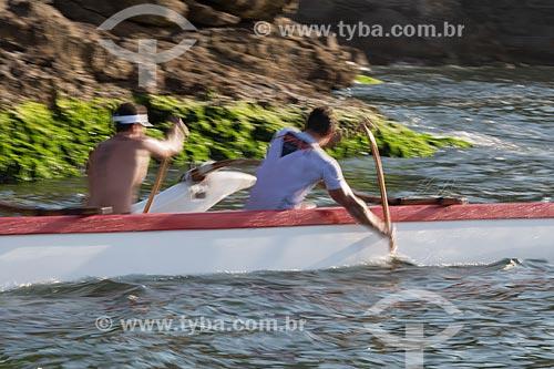 Assunto: Canoa havaiana na Baía de Guanabara / Local: Rio de Janeiro (RJ) - Brasil / Data: 11/2013