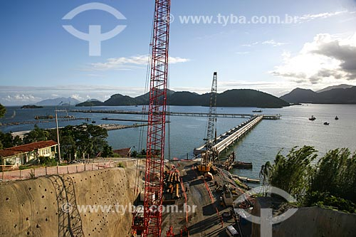 Vista do píer do Porto Sudeste - empreendimento da MMX, Grupo EBX do empresário Eike Batista  - Itaguaí - Rio de Janeiro - Brasil