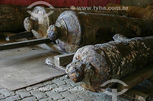 Assunto: Canhões do século XVII descobertos na Rua Sacadura Cabral por arqueólogos do Museu Histórico Nacional durante as obras do Porto Maravilha  / Local: Rio de Janeiro (RJ) - Brasil / Data: 05/2012