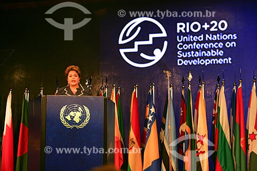Assunto: Presidente Dima Rousseff na Conferência das Nações Unidas sobre  Desenvolvimento Sustentável mais conhecido como Rio + 20 / Local: Rio de Janeiro (RJ) - Brasil / Data: 06/2012