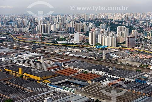 Assunto: Vista aérea dos armazéns da Avenida Henry Ford com Expresso Tiradentes ao fundo - antigo Fura-Fila na Avenida do Estado / Local: Ipiranga - São Paulo (SP) - Brasil / Data: 10/2013