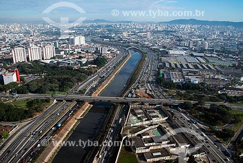 Assunto: Vista aérea da Ponte Jânio Quadros também conhecida como Ponte da Vila Maria e Unidade Vila Maria da Fundação Casa - antiga Febem à direita / Local: São Paulo (SP) - Brasil / Data: 06/2013