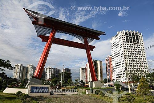 Espaço Engenheiro Riugi Kojima - Homenagem aos 100 anos da imigração Japonesa (1908-2008) - Homenagem à família Esaku Ihara (Pioneira na imigração em São José dos Campos)  - São José dos Campos - São Paulo - Brasil