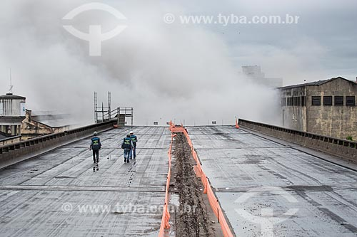 Assunto: Implosão do primeiro trecho do Elevado da Perimetral / Local: Gamboa - Rio de Janeiro (RJ) - Brasil / Data: 11/2013