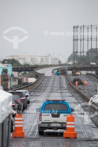 Assunto: Interdição de trecho do Elevado da Perimetral durante a implosão / Local: Gamboa - Rio de Janeiro (RJ) - Brasil / Data: 11/2013