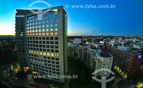 Assunto: Vista de Frankfurt - Centro financeiro da Alemanha / Local: Frankfurt - Alemanha - Europa / Data: 08/2013