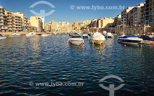Assunto: Vista de embarcações / Local: República de Malta - Europa / Data: 09/2013