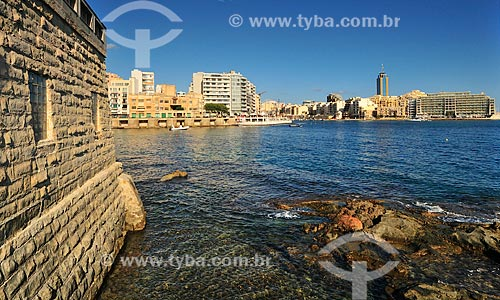 Assunto: Vista de uma construção histórica / Local: República de Malta - Europa / Data: 09/2013