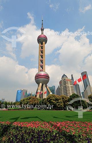 Assunto: Vista da Torre de Televisão Pérola Oriental / Local: Xangai - China - Ásia / Data: 04/2013