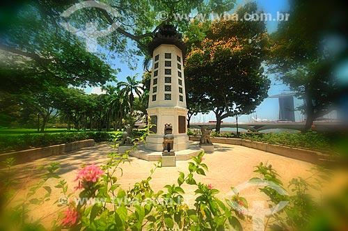 Assunto: Pagode (templo) no Parque da Esplanada / Local: República de Cingapura - Ásia / Data: 03/2013