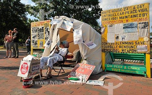 Assunto: Concepción Picciotto - Ativista que luta contra as armas nucleares e vive em frente à Casa Branca / Local: Washigton DC - Estados Unidos da América (EUA) - América do Norte / Data: 09/2013