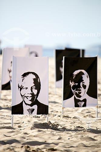 Assunto: Homenagem à Nelson Mandela na Praia de Copacabana realizada pela ONG Rio de Paz / Local: Copacabana - Rio de Janeiro (RJ) - Brasil / Data: 11/2013