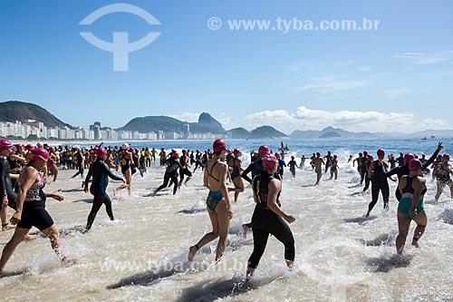 Assunto: Largada da etapa feminina do evento Rei e Rainha do Mar na Praia de Copacabana (Posto 6) / Local: Copacabana - Rio de Janeiro (RJ) - Brasil / Data: 11/2013