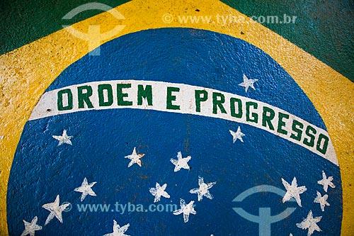 Assunto: Muro pintado com a bandeira do Brasil / Local: Porto Velho - Rondônia (RO) - Brasil / Data: 11/2013