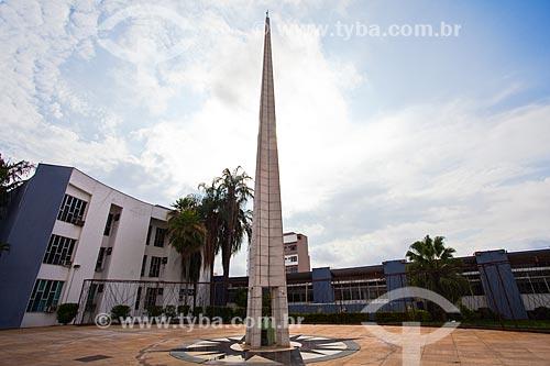 Assunto: Centro Geodésico da América do Sul na Praça Pascoal Moreira Cabral - local determinado por Marechal Cândido Rondon em 1909 / Local: Cuiabá - Mato Grosso (MT) - Brasil / Data: 10/2013