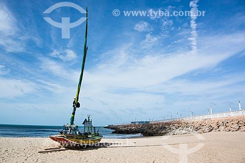 Assunto: Jangada na Praia de Iracema / Local: Fortaleza - Ceará (CE) - Brasil / Data: 11/2013