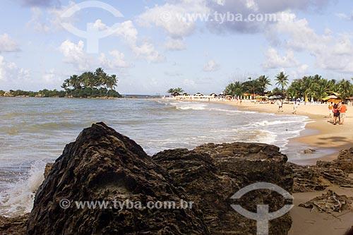 Assunto: Vista da 2ª Praia com a Ilha da Saudade ao fundo / Local: Cairu - Bahia (BA) - Brasil / Data: 04/1991