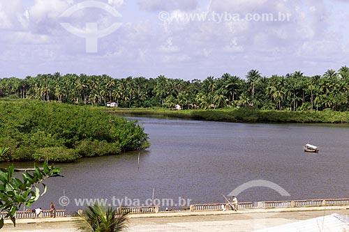 Assunto: Vista do Rio Acarí / Local: Camamu - Bahia (BA) - Brasil / Data: 04/1991