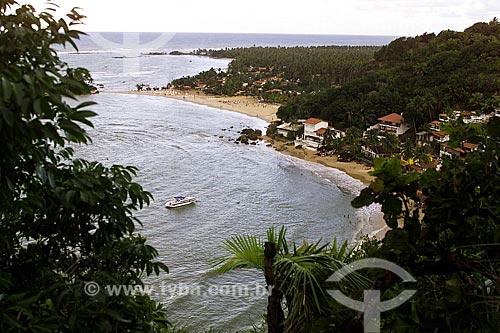 Assunto: Vista da 2ª Praia a partir do Morro de São Paulo com a 1ª Praia ao fundo / Local: Cairu - Bahia (BA) - Brasil / Data: 04/1991
