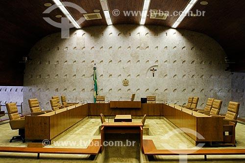 Assunto: Plenário do Supremo Tribunal Federal - sede do Poder Judiciário / Local: Brasília - Distrito Federal (DF) - Brasil / Data: 08/2013
