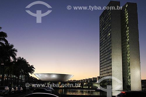 Assunto: Pôr do sol na Câmara dos Deputados / Local: Brasília - Distrito Federal (DF) - Brasil / Data: 08/2013