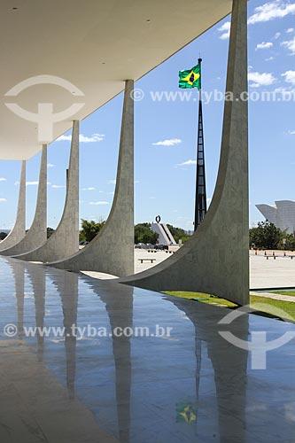 Assunto: Vista do Pavilhão Nacional a partir do Supremo Tribunal Federal - sede do Poder Judiciário  / Local: Brasília - Distrito Federal (DF) - Brasil / Data: 08/2013