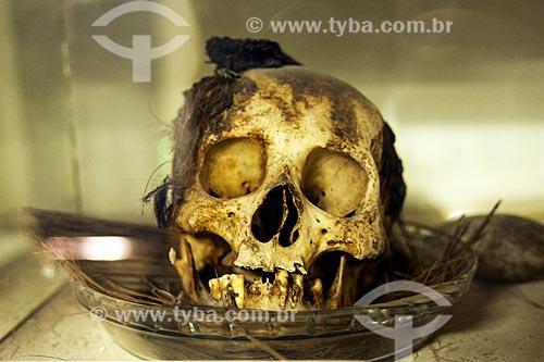 Assunto: Crânio humano localizado no Sítio Arqueológico Furna do Estrago / Local: Brejo da Madre de Deus - Pernambuco (PE) - Brasil / Data: 01/2014