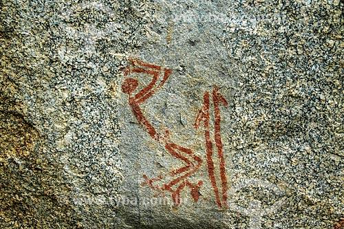 Assunto: Pintura rupestre no Sítio Arqueológico Furna do Estrago / Local: Brejo da Madre de Deus - Pernambuco (PE) - Brasil / Data: 01/2014