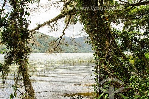 Assunto: Vista da Lagoa do Peri a partir do Caminho da Gurita no Parque Municipal da Lagoa do Peri / Local: Florianópolis - Santa Catarina (SC) - Brasil / Data: 12/2013