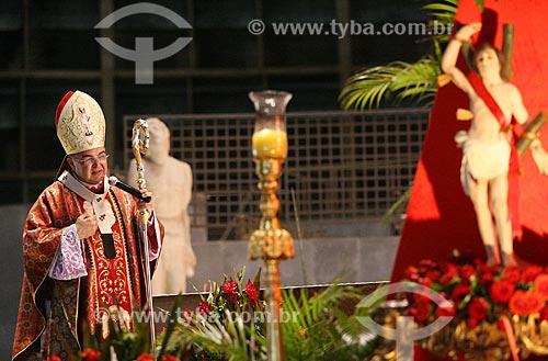 Assunto: Dom Orani João Tempesta - arcebispo do Rio de Janeiro - durante celebração da missa no dia de São Sebastião na Catedral de São Sebastião do Rio de Janeiro (1979) / Local: Centro - Rio de Janeiro (RJ) - Brasil / Data: 01/2010