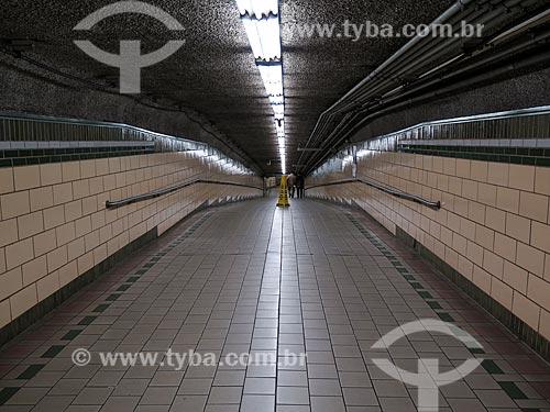 Assunto: Corredor da estação de Exchange Place / Local: Nova Jersey - Estados Unidos - América do Norte / Data: 11/2013