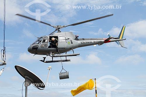 Assunto: Helicóptero durante a expedição Rio Madeira - operação de fiscalização da Marinha do Brasil no Rio Madeira / Local: Porto Velho - Rondônia (RO) - Brasil / Data: 03/2012