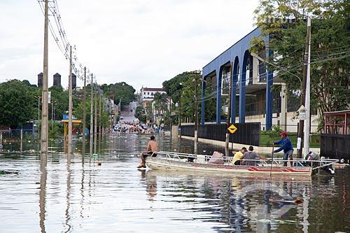 Assunto: Rua do centro de Porto Velho alagada devido à cheia do Rio Madeira / Local: Porto Velho - Rondônia (RO) - Brasil / Data: 02/2014